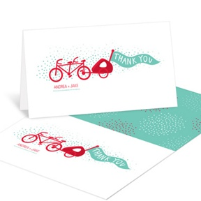 Baby Makes Three -- Baby Shower Thank You Cards