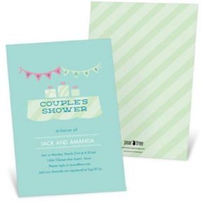 Baby Love Couples Shower -- Baby Shower Invitations