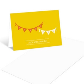 Sweetly Strung -- Baby Shower Thank You Cards