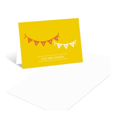 Sweetly Strung Baby Shower Thank You Cards