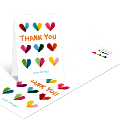 Hand Sketched Hearts Pattern -- Baby Shower Thank You Cards