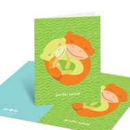 Thankful Family Embrace Baby Shower Thank You Cards