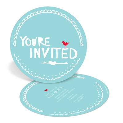 Nesting for Newborn's Arrival -- Unique Baby Shower Invitations