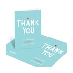 Sweet Chirps and Scallops -- Baby Shower Thank You Cards