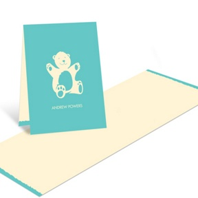 Bear Hugs in Blue -- Baby Shower Thank You Cards