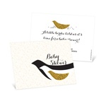 Elegant Birds Flocking Together -- Unique Baby Shower Invitations