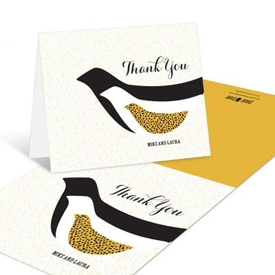 Elegant Birds Flocking Together Baby Shower Thank You Cards