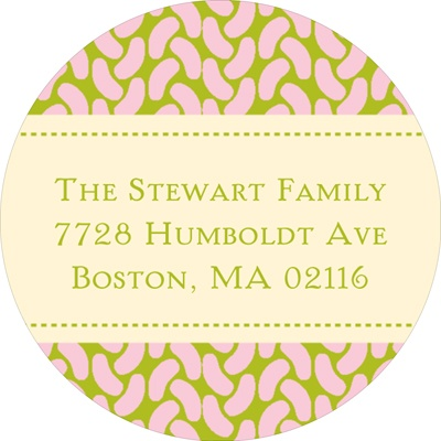 Sweet Feet in Pink -- Baby Address Labels