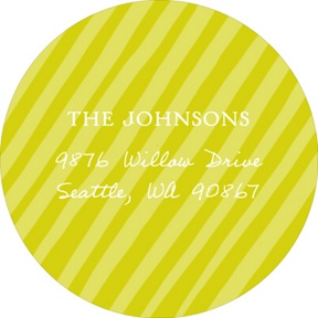 Simply Elegant Stripes Sent in Green -- Baby Address Labels