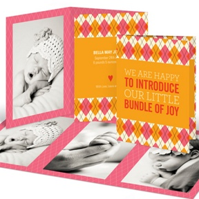 Argyle Meets Adorable Arrival in Pink -- Birth Announcements
