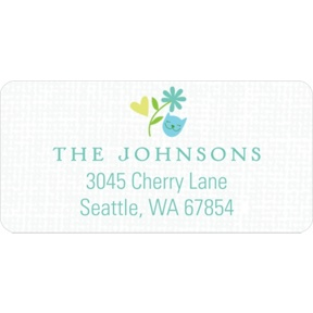 Whimsical Wonder in Blue -- Baby Address Labels