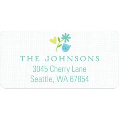 Whimsical Wonder in Blue Baby Address Labels