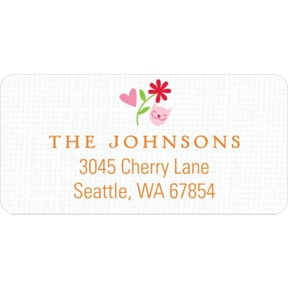 Whimsical Wonder in Pink -- Baby Address Labels