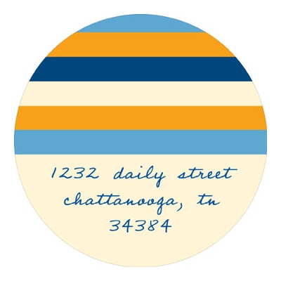 Varying Vibrant Stripes Baby Address Labels