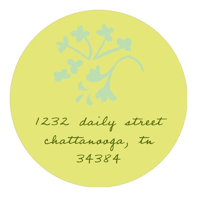 Sweet Floral Stamp Baby Address Labels