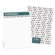 Stripes and Dots in Red Thank You Cards