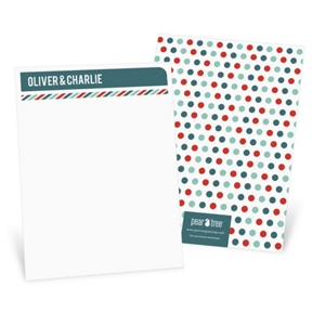 Stripes and Dots in Red -- Thank You Cards