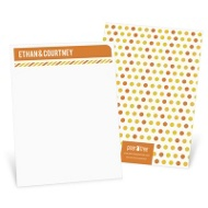 Stripes and Dots in Yellow Thank You Cards