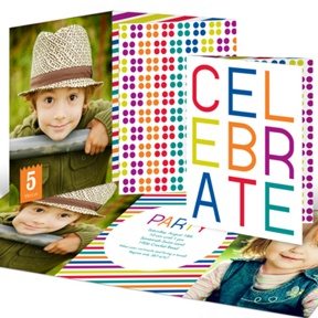 Multicolor Celebration -- Kids Birthday Invitations