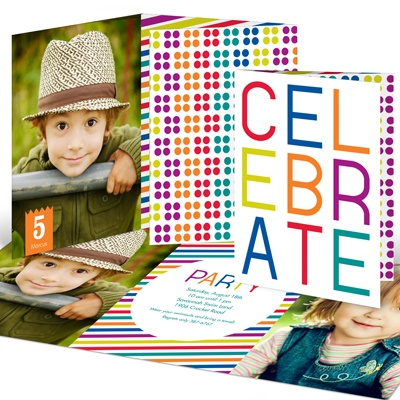 Multicolor Celebration Kids Birthday Invitations