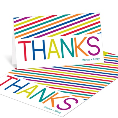 Multicolor Celebration Thank You Cards