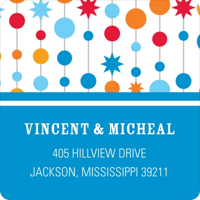 Birthday Garland Address Labels