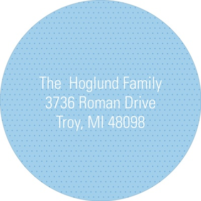 Subtle Dots in Blue Baby Address Labels