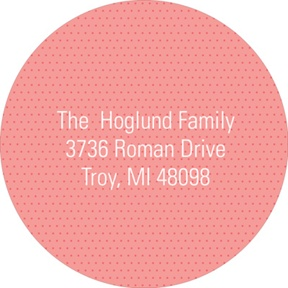 Subtle Dots in Pink -- Baby Address Labels