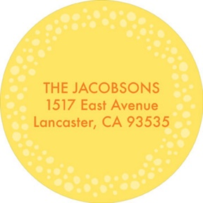 Sunny and Sweet -- Baby Address Labels