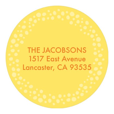 Sunny and Sweet Baby Address Labels