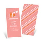 Special Delivery in the City in Pink -- Girl Birth Announcements