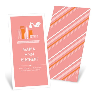 Special Delivery City Girl Birth Announcements