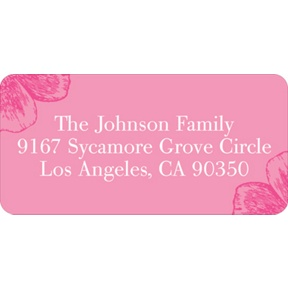 Chic Poppy Flower Perfection -- Baby Address Labels