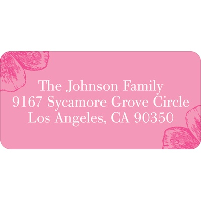 Chic Poppy Flower Perfection Baby Address Labels