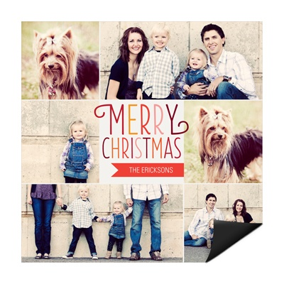 Charming Squares Magnet Photo Christmas Cards