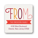 Charming Ribbon -- Return Address Labels