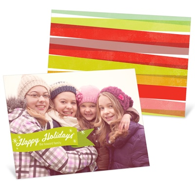 Flurries & Ribbons Holiday Photo Cards