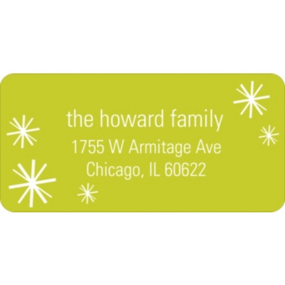 Sparkling Flurries -- Holiday Address Labels