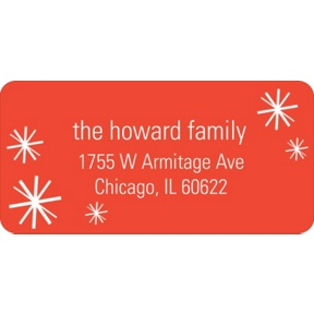 Sparkling Flurries -- Christmas Address Labels