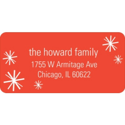Sparkling Flurries -- Christmas Return Address Labels