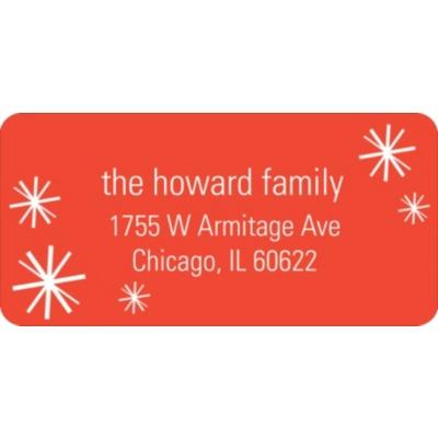 Sparkling Flurries Christmas Address Labels
