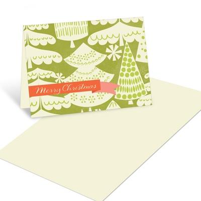 O Vintage Christmas Tree Christmas Mini Note Cards