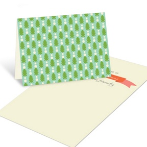 Tree Line Up -- Christmas Mini Note Cards