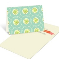 Christmas Burst Pattern Christmas Mini Note Cards