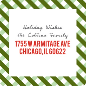 Festive Gingham Border -- Christmas Address Labels