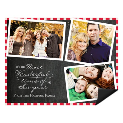 Flowing Holiday Cheer Magnet Holiday Photo Cards