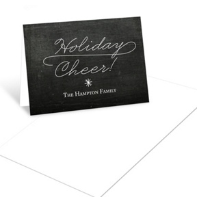 Flowing Holiday Cheer Photo -- Christmas Mini Note Cards
