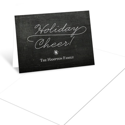 Flowing Holiday Cheer Photo Christmas Mini Note Cards