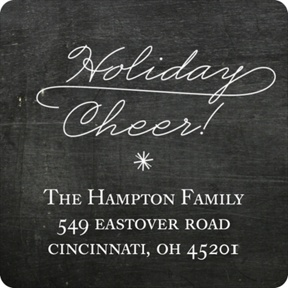 Flowing Holiday Cheer -- Christmas Address Labels