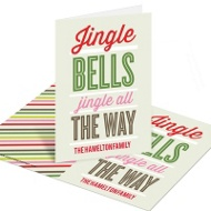 Jingle and Joy Christmas Mini Note Cards